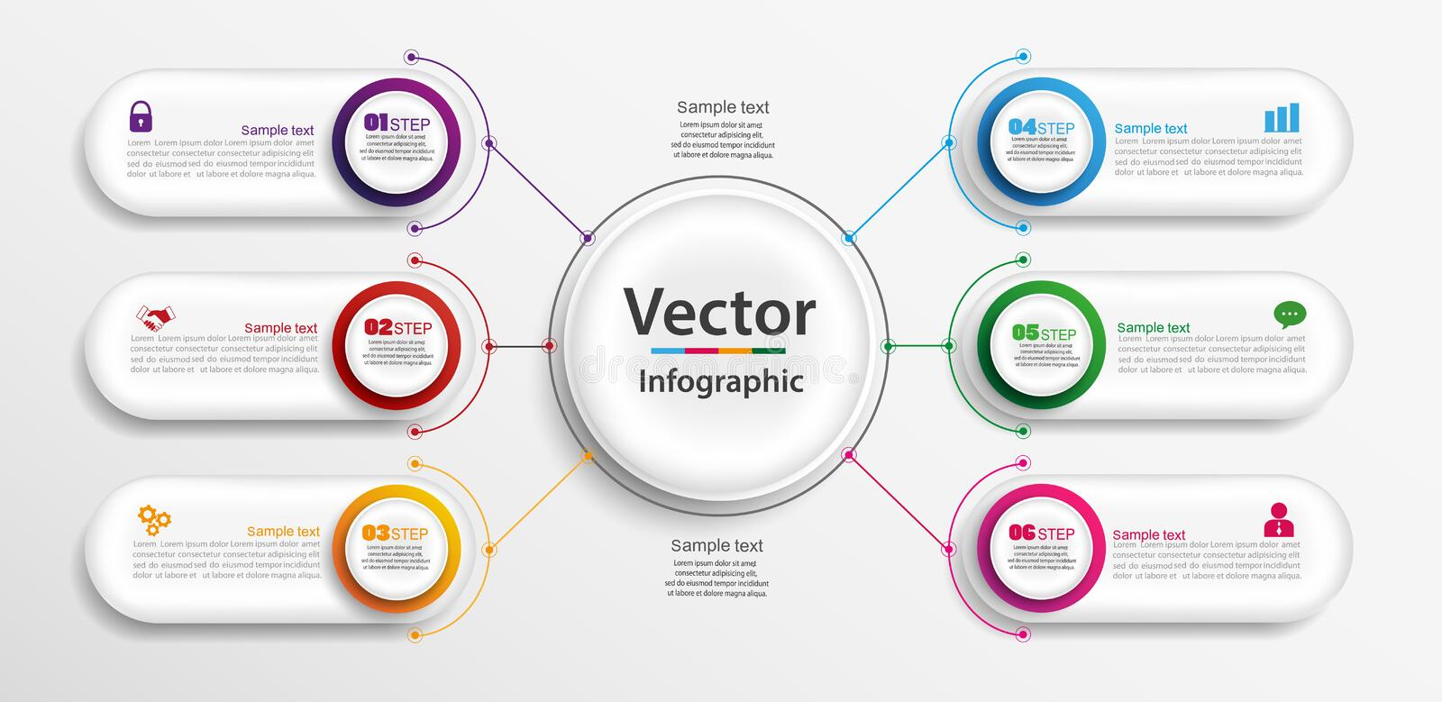 Timeline infographics design vector and marketing icons can be used for workflow layout, diagram, annual report, web design stock illustration