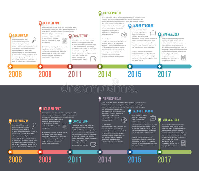 Timeline Infographics vector illustration