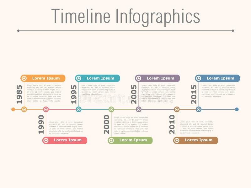 Timeline Infographics. Illustration of timeline infographics design template royalty free illustration