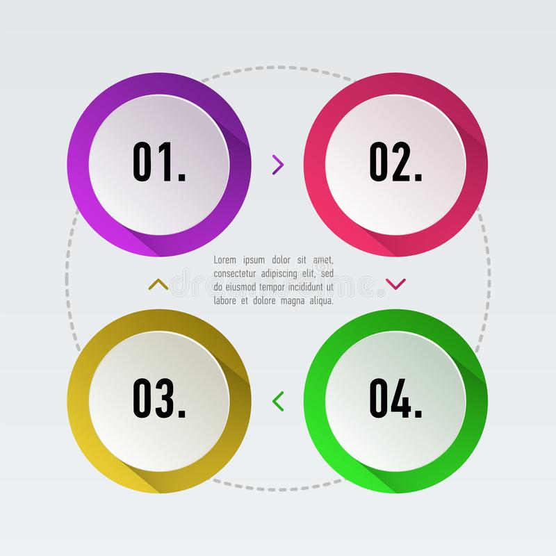 Timeline infographics set vector illustration. Marketing icons and template elements for data presentation, report, web royalty free illustration