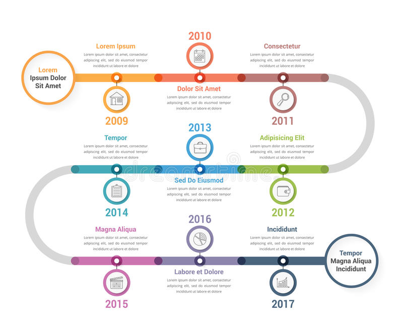 Timeline Infographics stock illustration