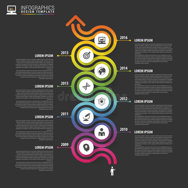 Timeline infographics template. Colorful modern design. Vector illustration.  vector illustration