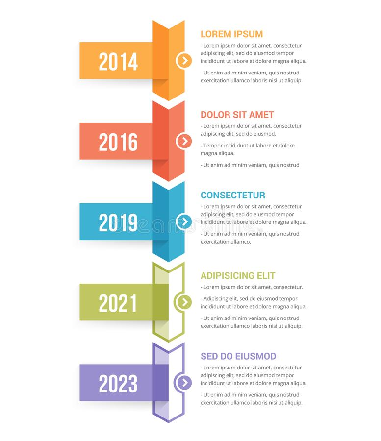 Timeline Infographics royalty free illustration