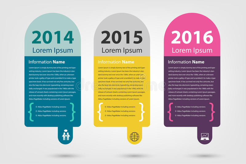 Timeline & milestone company history infographic. In vector style (eps10 royalty free illustration