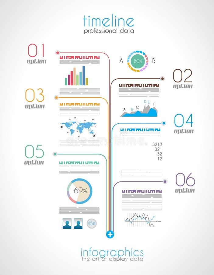 Timeline som visar dina data med Infographic stock illustrationer