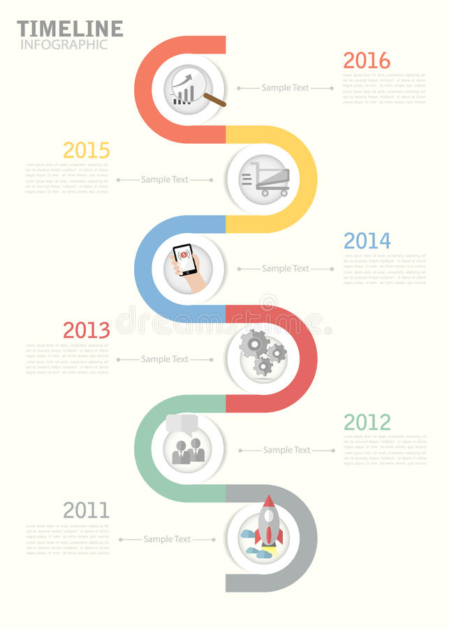 Timeline Template For Business Design Reports Step Presentation