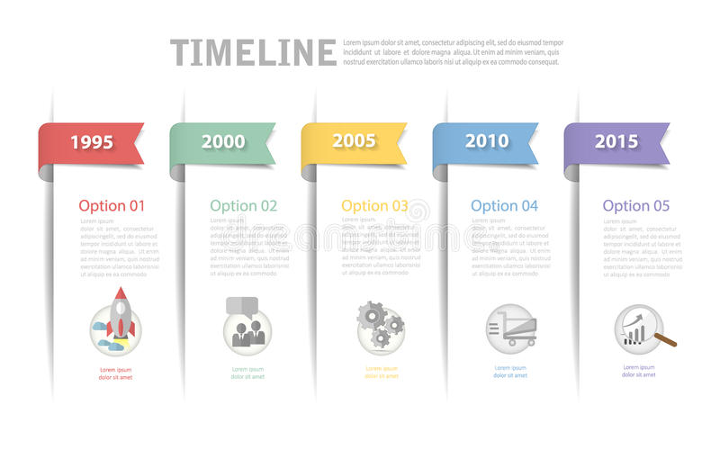 Timeline template, can be used for workflow layout, diagram. Number options, web design vector illustration