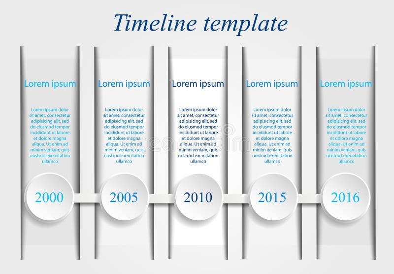 Timeline template vector illustration