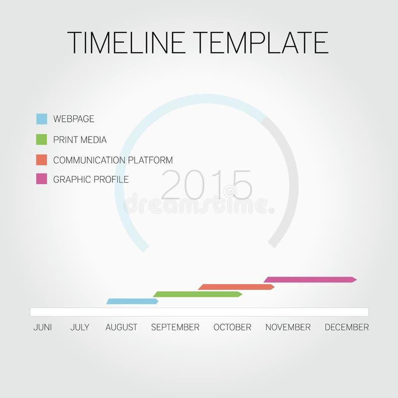 Timeline Template Stock Illustration. Illustration Of