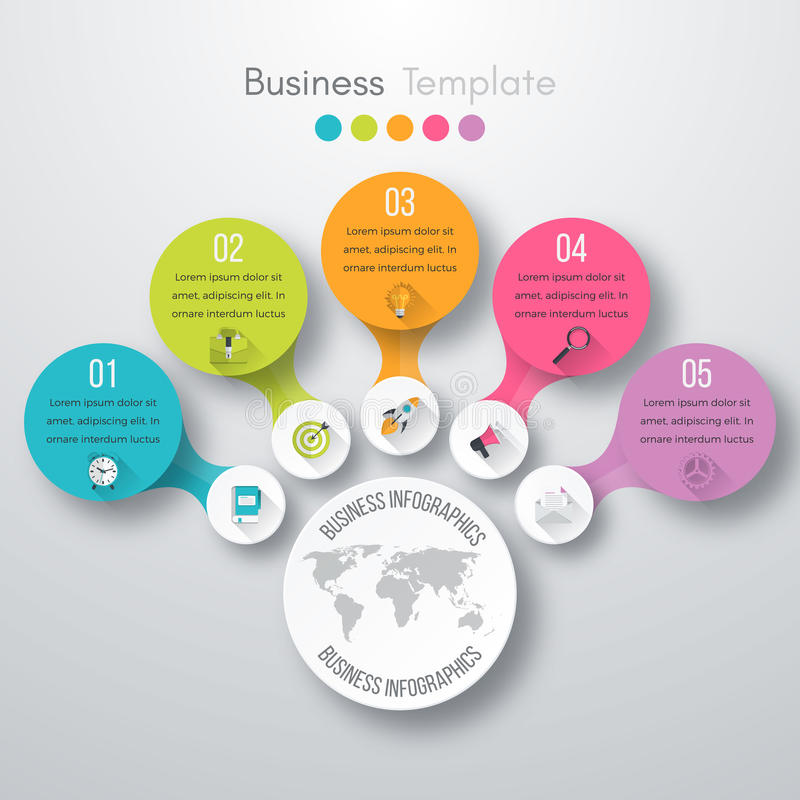 Timeline Vector 3d Infographic royalty free illustration
