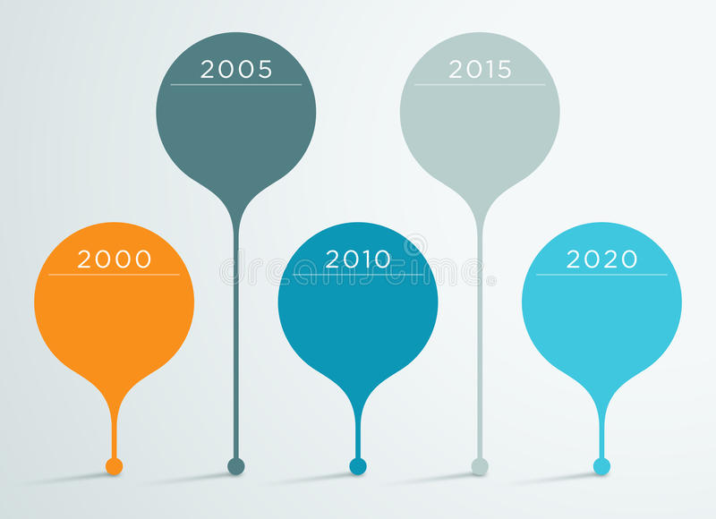 Timeline Vector 3d Infographic 3 royalty free illustration