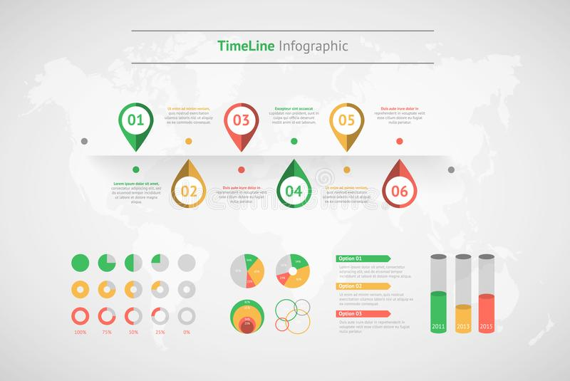 Timeline vector infographic world map stock vector illustration download timeline vector infographic world map stock vector illustration of icon modern gumiabroncs Images