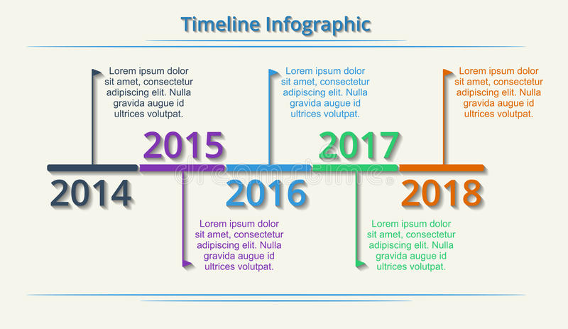 Timeline Web Element Template Vector Stock Vector  Image