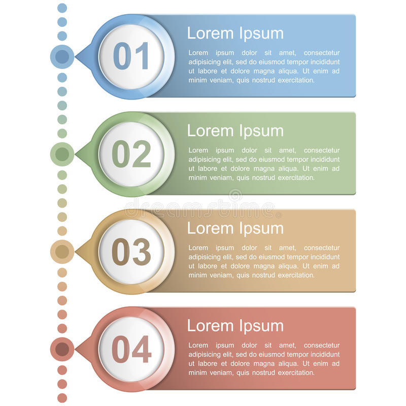 Timelinedesignmall stock illustrationer