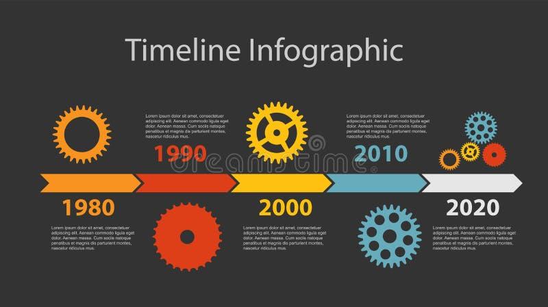 TimelineInfographic mall för affärsvektor royaltyfri illustrationer