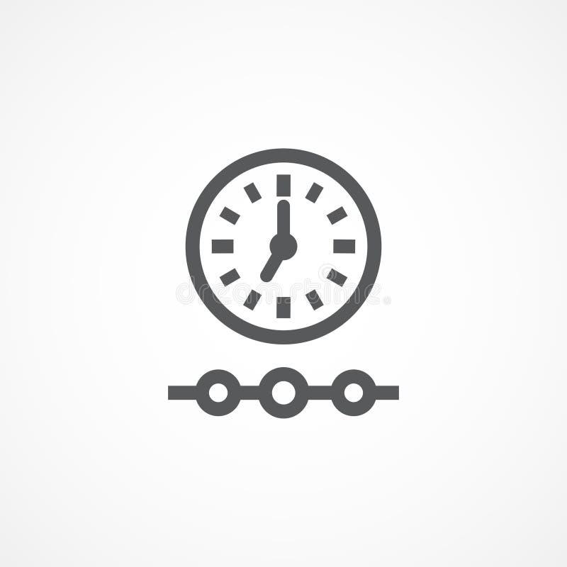 Timelinesymbol royaltyfri illustrationer