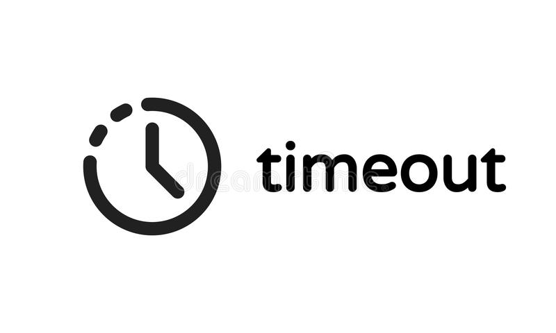Timeout error time out vector 404 icon royalty free illustration