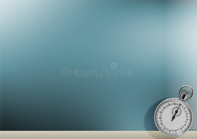 Timer on blue background royalty free illustration