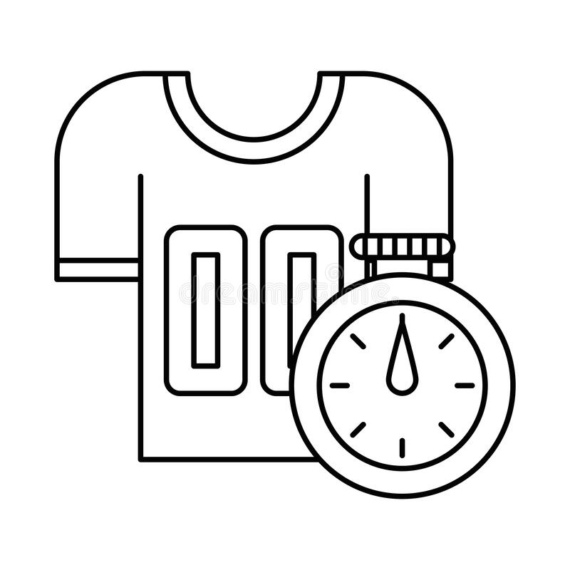 Timer chronometer with american football shirt royalty free illustration