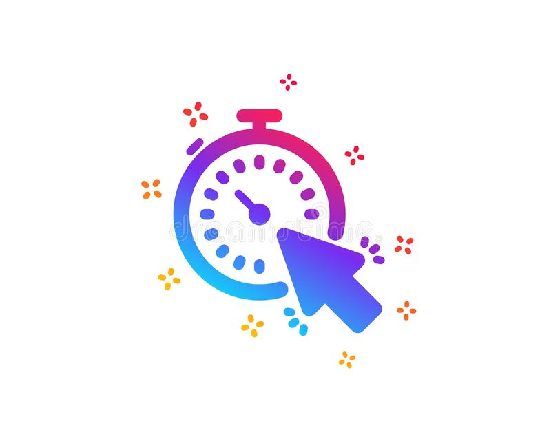 Timer icon. Time or clock sign. Vector. Timer icon. Time or clock sign. Mouse cursor symbol. Dynamic shapes. Gradient design timer icon. Classic style. Vector stock illustration