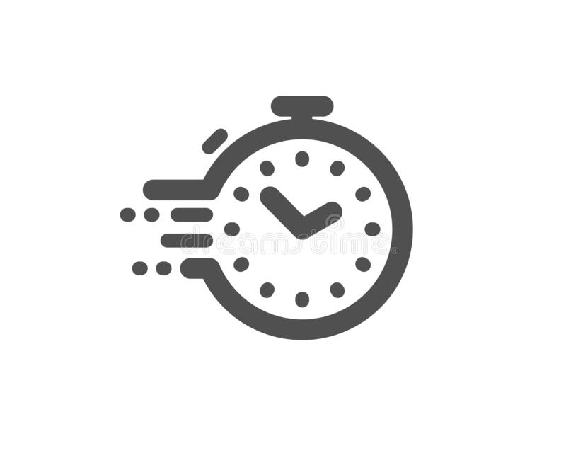 Timer icon. Time management sign. Stopwatch. Vector. Time management sign. Timer icon. Stopwatch symbol. Classic flat style. Simple timer icon. Vector stock illustration