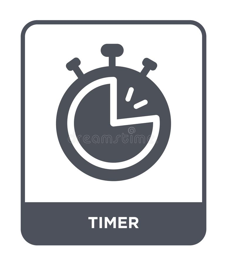 timer icon in trendy design style. timer icon isolated on white background. timer vector icon simple and modern flat symbol for vector illustration