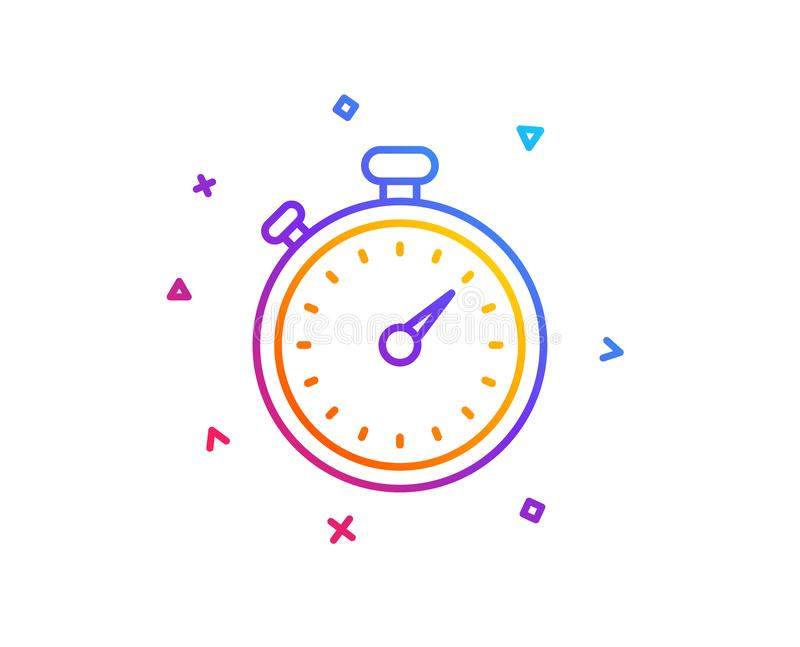 Timer line icon. Stopwatch sign. Vector stock illustration