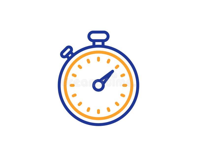 Timer-Linie Ikone Stoppuhrzeichen Vektor lizenzfreie abbildung