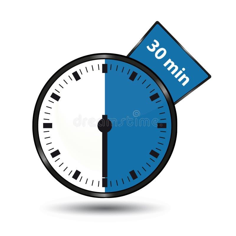 Timer 30 Minuten - Vektor-Illustration - lokalisiert auf Weiß lizenzfreie abbildung