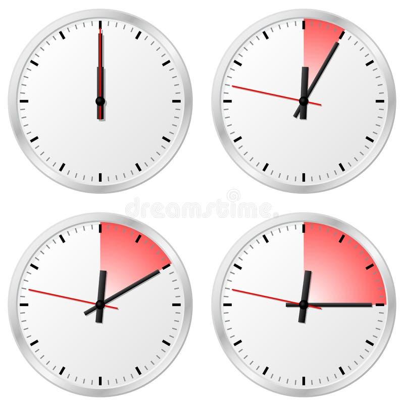 Timer Mit 0, 5, 10 Und 15 Minuten Vektor Abbildung - Illustration ...