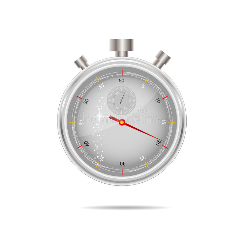 Free Timer Silver Color Isolated Royalty Free Stock Images - 19974929