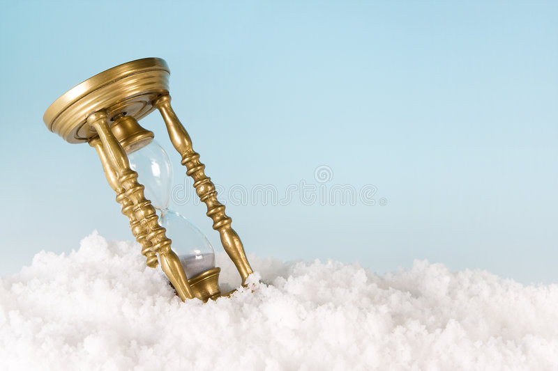 Timer in the snow royalty free stock photography