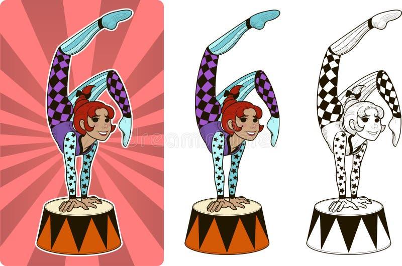 Timer-Zirkuscharakterfrau lizenzfreie abbildung