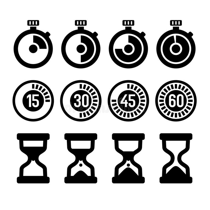 timers icons set stock vector  illustration of alarm
