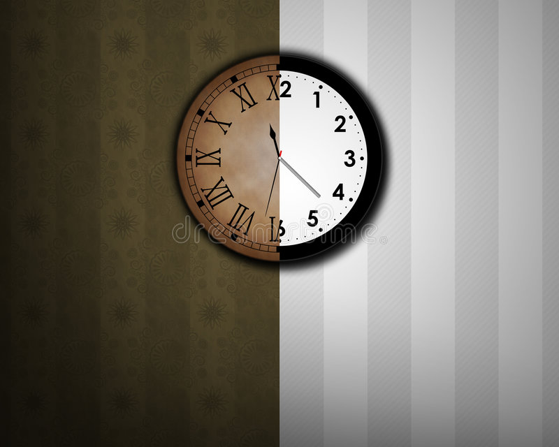 Times change. Illustration of a clock being the symbol of the times that change vector illustration