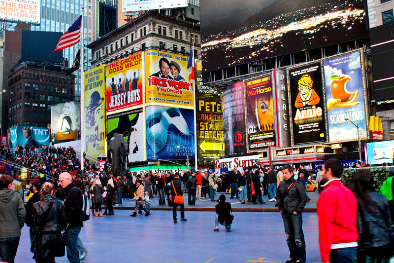 Times Square, Μανχάτταν NYC στοκ εικόνα