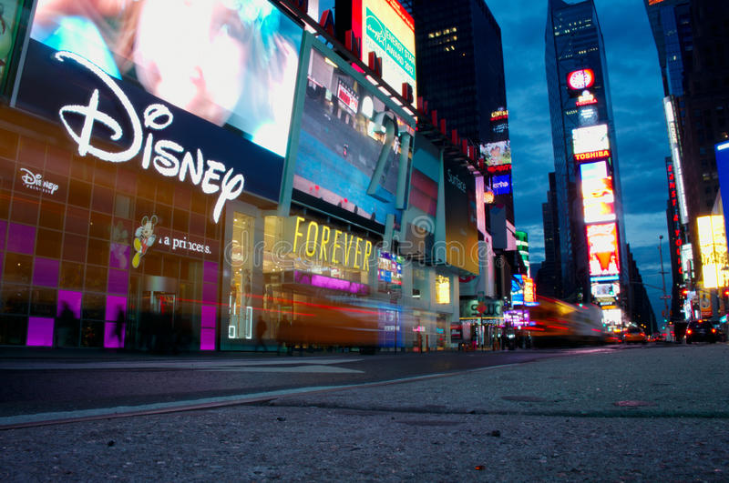 Times Square. NEW YORK CITY - JANUARY 13: Times Square, featured with Broadway Theatres and animated LED signs, is a one of the main tourist destinations in New royalty free stock photos