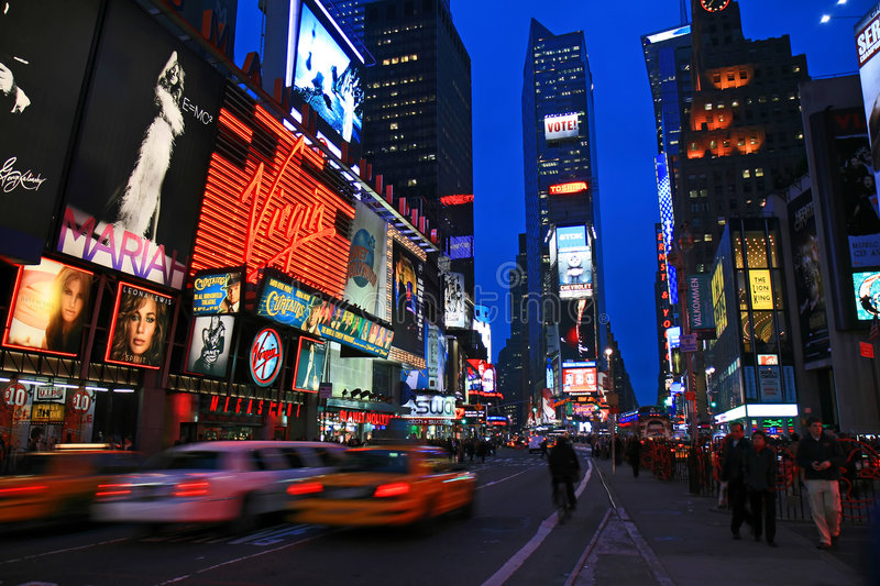 The Times Square royalty free stock photography
