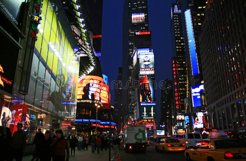The Times Square stock images