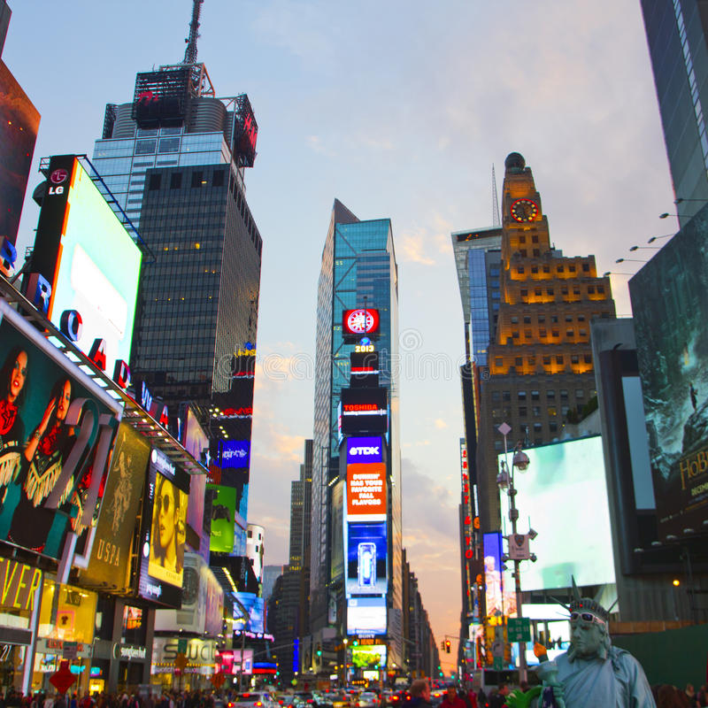 Times Square with animated LED signs, Manhattan, New York City. stock photography