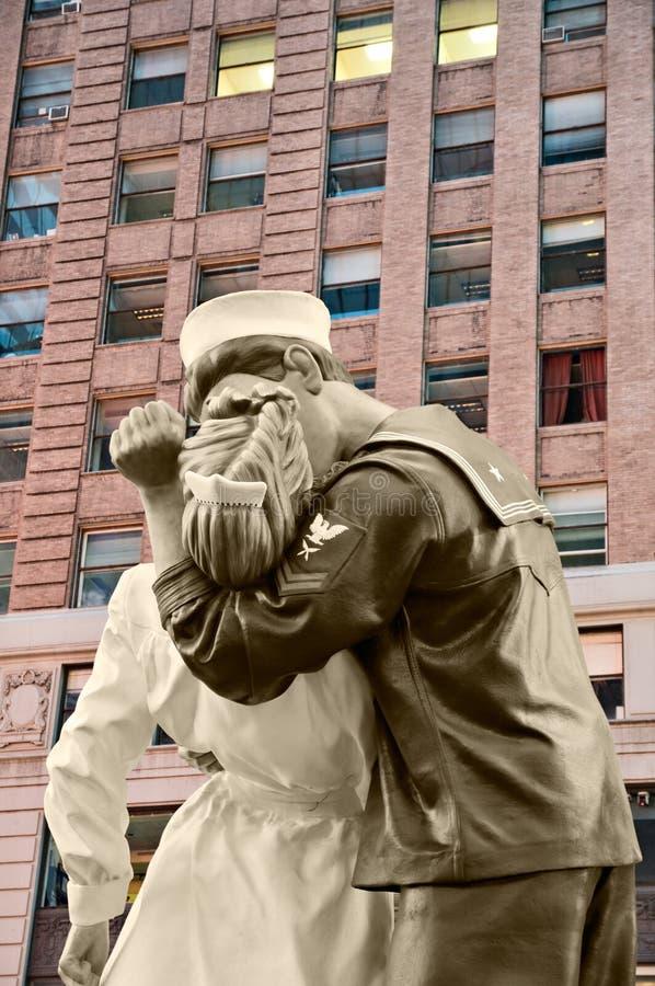 Times Square Baciare-nel 14 agosto 2010 fotografie stock libere da diritti