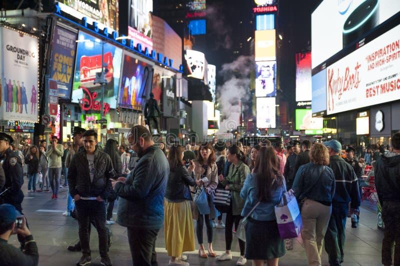 Times Square bij nacht II royalty-vrije stock afbeeldingen