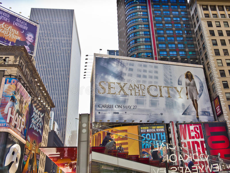 Download Times Square Billboards editorial photo. Image of office - 23619541