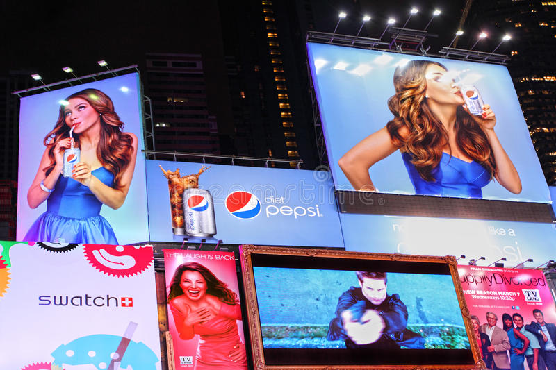 Times Square Branding and advertising billboards royalty free stock photography