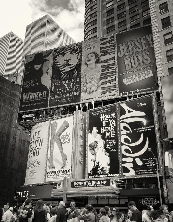 Times Square, Broadway, de Stad van New York royalty-vrije stock foto