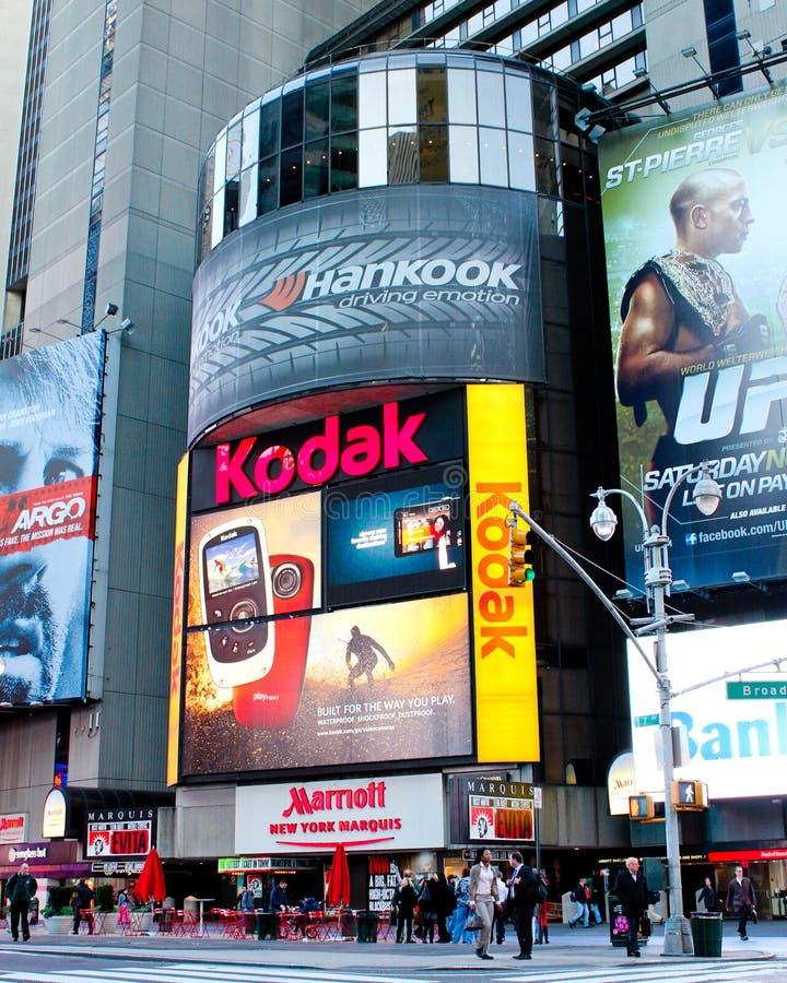 Times Square d'hôtel de marquis de Marriott photo libre de droits