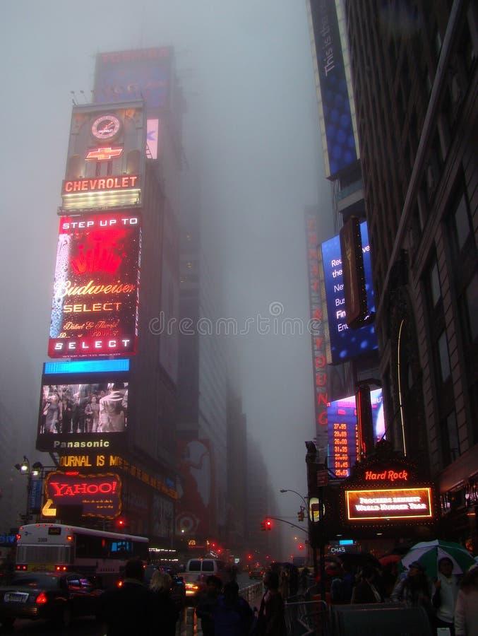 Times Square dans le brouillard photo libre de droits