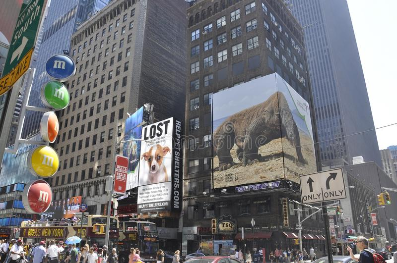 New York City, 2nd July: Times Square on daytime in Midtown Manhattan from New York City in United States stock photos