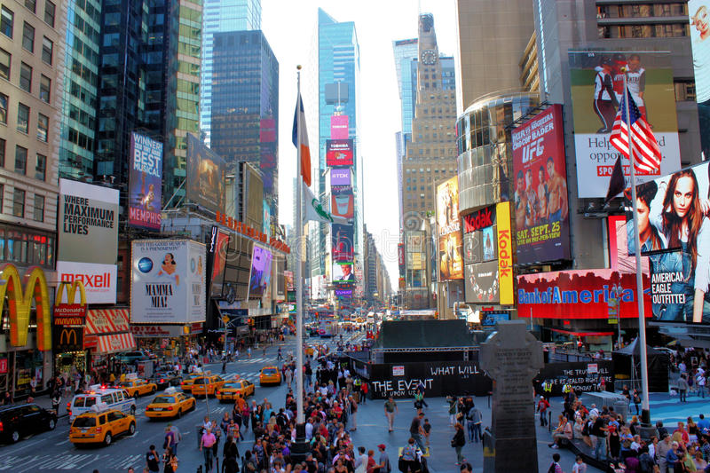Times Square de New York City imagem de stock royalty free