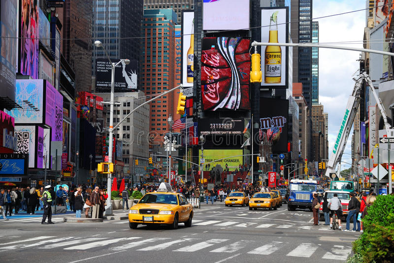 Times Square de New York City Manhattan photographie stock libre de droits